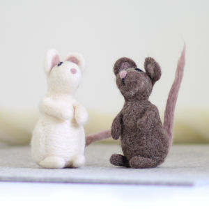 Mice Needle Felting Craft Kit - sewing & knitting