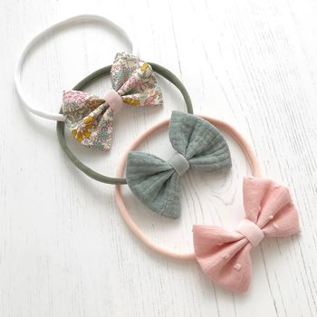 Little Love Cotton Bow Headband/ Wildflower