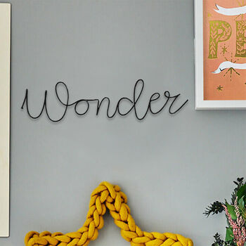 'Wonder' Wire Word Art