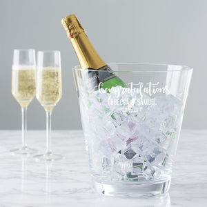 Personalised Wedding Crystal Champagne Bucket - kitchen