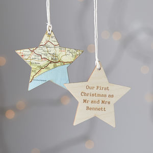 Personalised Map Location Keepsake Decoration Bauble - decorative accessories