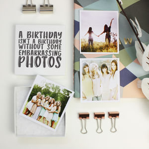 Personalised 'Embarrassing Photos' Photos In A Box - people & portraits