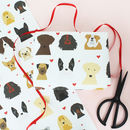 Dogs And Hearts Wrapping Paper