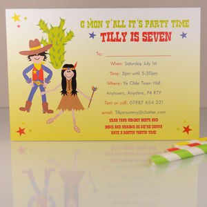 16 Cowboys And Indians Invites Or Thank Yous