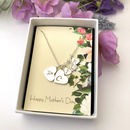 Mother And Child Silver Initial Necklace