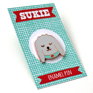 Finn The Doodle Enamel Pin - pins & brooches