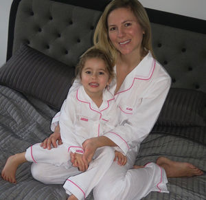 Mother And Daughter Personalised Traditional Pyjama Set - children's nightwear