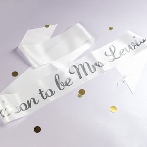 Personalised Script Bride To Be Sash