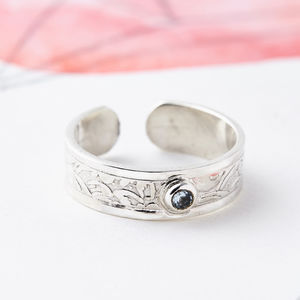 Gemstone Silver Midi Ring Or Toe Ring - rings