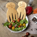 Eco Friendly Personalised Wooden Salad Servers