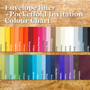 Envelope liner colour chart