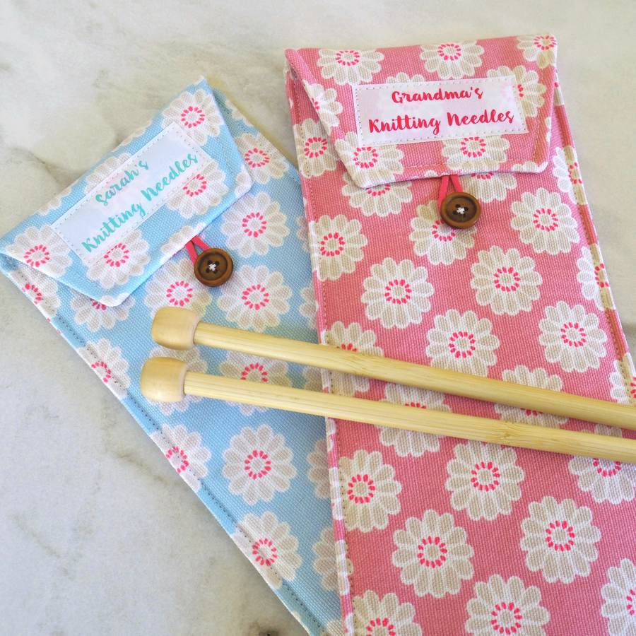 Personalised Knitting Needle Case