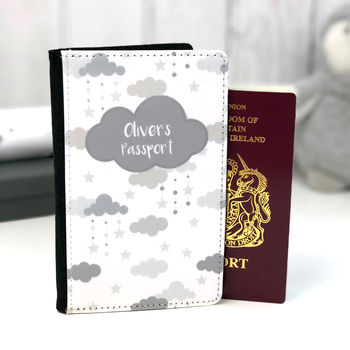 Cloud Personalised Passport Cover