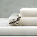 Sterling Silver Vintage Style Bee Charm Necklace