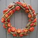 Autumn Halloween Pumpkin Wreath