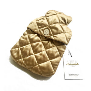 Mini Silk Quilted Hot Water Bottle