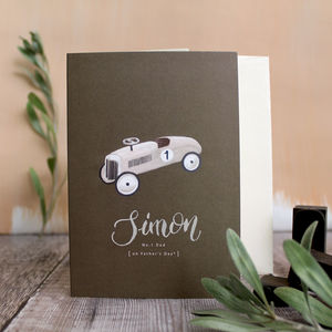 Personalised Father's Day Car Card