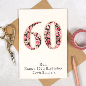 Personalised Liberty Special Age Birthday Card - birthday cards