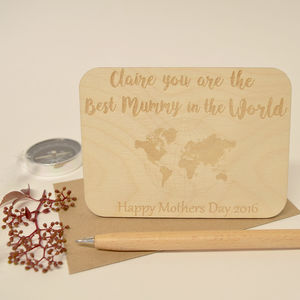 Personalised Best Mum Postcard Keepsake - mother's day cards