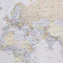 Canvas Classic Map Of The World