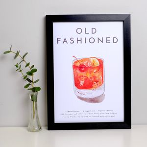 Cocktail Print Old Fashioned - food & drink prints