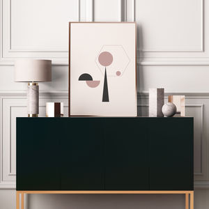 Geometric Balancing Art Prints In Dusty Pink - sanctuary