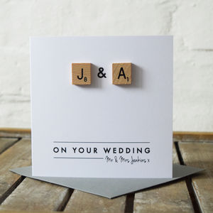 Personalised Scrabble Love Couple Card - cards & wrap