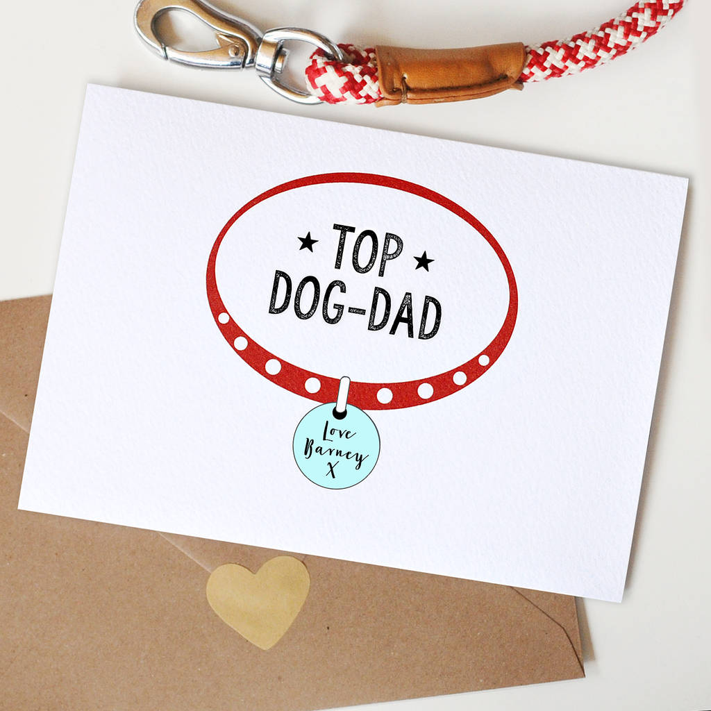 Personalised Dog Dad Card By Papergravy