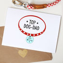 Personalised Dog Dad Father's Day Card