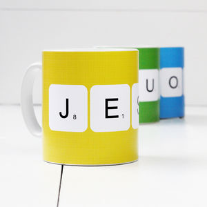 Personalised 'Scrabble' Mug - dining room