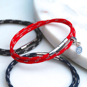 Personalised Men's Skinny Sailing Cord Bracelet - personalised jewellery