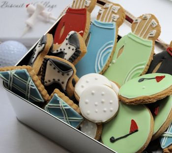 Golf Biscuit Tin