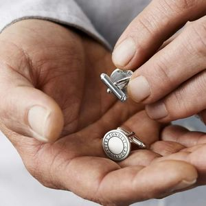 Personalised Coded Coordinate Cufflinks