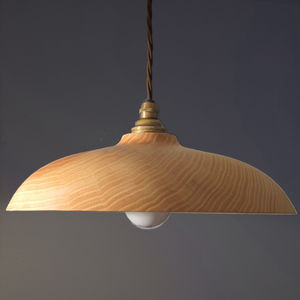 Hygge Wooden Ceiling Pendant Light - living room