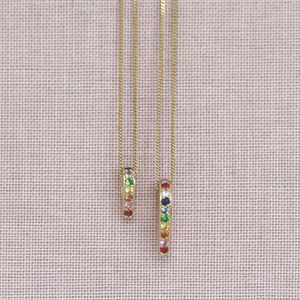 Gold And Rainbow En Pointe Pendants - necklaces & pendants