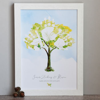 Personalised Family Tree Sibling Print