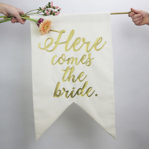 Gold Print Wedding Banner - spring styling