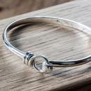 Sterling Silver Twisted Loop Bangle