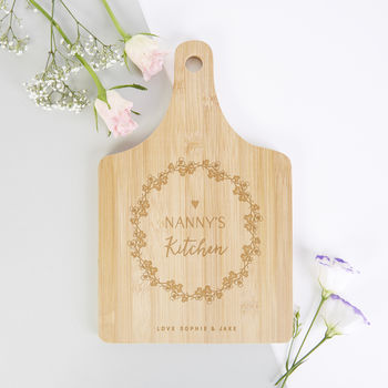 Grandma Gift Personalised Floral Wooden Serving Board