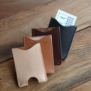 Personalised Leather Card Sleeve