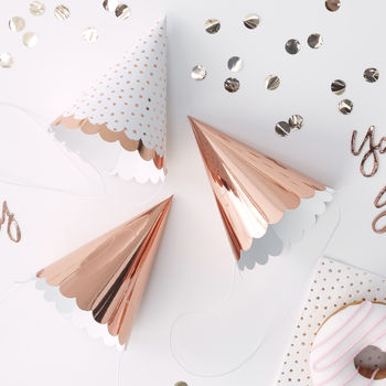 Rose Gold Pick And Mix Foiled Party Hats