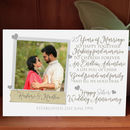 Personalised 25th Silver Wedding Anniversary Photo Card