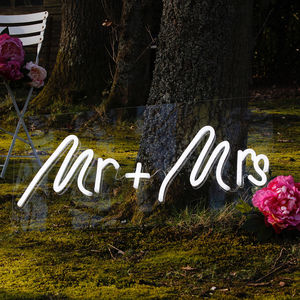 Mr And Mrs Wedding LED Neon Light Up Sign - what's new