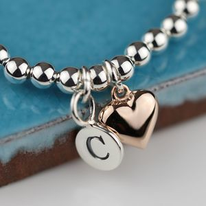 Personalised Rose Gold Heart Friendship Bracelet - bracelets & bangles