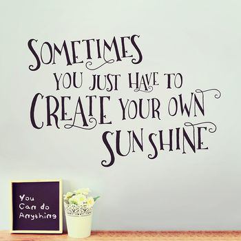 Create Your Own Custom Wall Sticker Quote