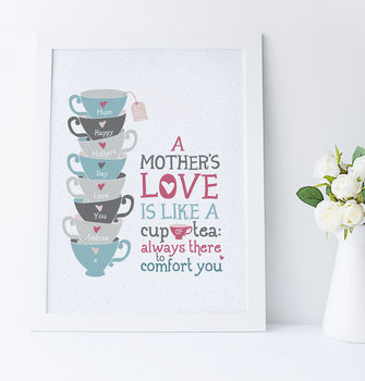 Personalised 'A Mother's Love' Gift Print