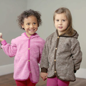 Organic Merino Wool Fleece Children's Coat - coats & jackets