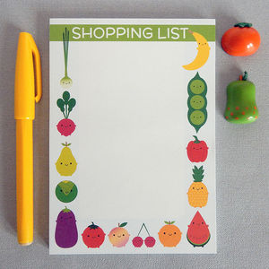 Five A Day Magnetic Shopping List Pad