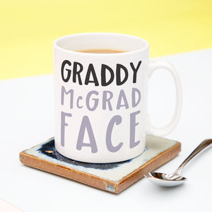 Graddy Mc Grad Face Graduation Mug - graduation gifts