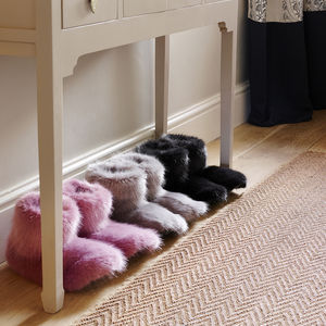 Luxury Faux Fur Slipper Boots - slippers